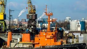 造船厂 图库摄影