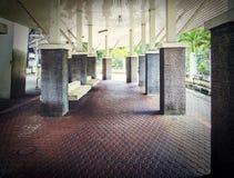 仿造铺瓦片,水泥砖地板背景 免版税图库摄影