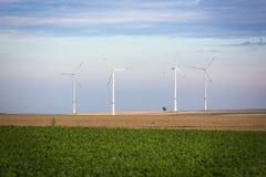 造风机在莱茵河黑森,德国 库存图片