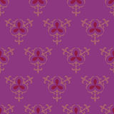 仿造紫色无缝 免版税库存照片