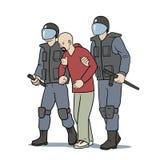 逮捕 库存例证