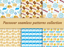 逾越节无缝的样式收藏 Pesach不尽的背景,纹理 犹太假日背景 也corel凹道例证向量 向量例证