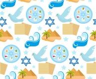 逾越节无缝的样式 Pesach不尽的背景,纹理 犹太假日背景 也corel凹道例证向量 皇族释放例证