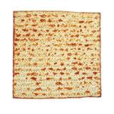 逾越节背景 (犹太逾越节面包)被隔绝的发酵的硬面 图库摄影