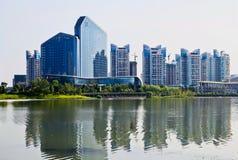遂宁市,四川河东区大厦 免版税库存照片