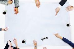 遇见讨论激发灵感概念的商人 图库摄影