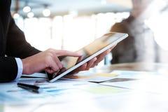 遇见设计想法概念的商人 企业规划 免版税库存照片