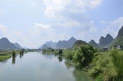 遇龙河风景区在阳朔 库存图片