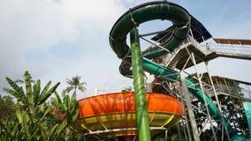 水滑道在巴厘岛 免版税库存照片