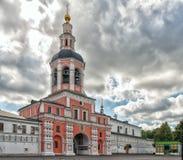 道尼洛夫修道院在莫斯科 免版税库存照片