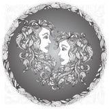 黄道带标志双子星座 免版税库存照片