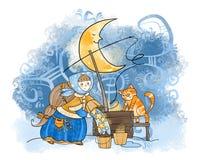黄道带标志:宝瓶星座 库存图片