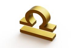 黄道带标志-天秤座 免版税库存图片