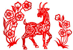 黄道带标志年山羊 库存图片