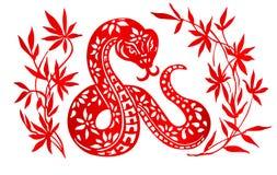 黄道带标志年蛇 图库摄影