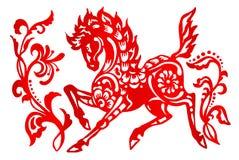 黄道带标志年马 免版税图库摄影
