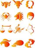 黄道带的占星术标志 库存图片