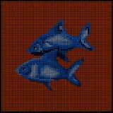 黄道带签字-鱼- 免版税库存照片
