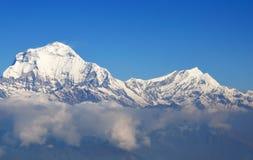 道拉吉里峰喜马拉雅山,尼泊尔的南面孔。 免版税库存图片