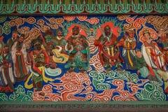 道教传奇无锡Taihu鼋头渚Taihu仙岛Lingxiao宫殿大规模壁画  库存照片
