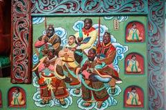 道教传奇无锡Taihu鼋头渚Taihu仙岛Lingxiao宫殿大规模壁画  免版税库存照片