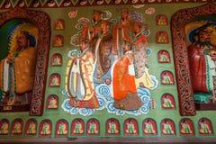 道教传奇无锡Taihu鼋头渚Taihu仙岛Lingxiao宫殿大规模壁画  免版税库存图片