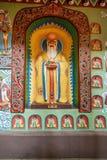 道教传奇无锡Taihu鼋头渚Taihu仙岛Lingxiao宫殿大规模壁画  库存图片