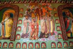 道教传奇无锡Taihu鼋头渚Taihu仙岛Lingxiao宫殿大规模壁画  图库摄影