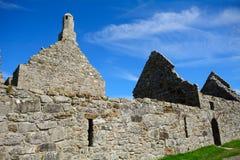 道林和Hurpan, Clonmacnoise,爱尔兰寺庙  免版税库存照片