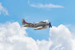 道格拉斯在显示的AD-4NA Skyraider 免版税库存照片