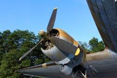 道格拉斯达可它DC-3 C-47 WWII平面旋转引擎 库存图片
