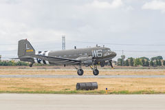 道格拉斯C-47在显示的Skytrain DC-3 免版税库存照片
