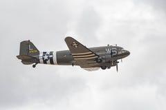 道格拉斯C-47B在显示的Skytrain DC-3 免版税库存图片
