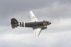 道格拉斯C-47B在显示的Skytrain DC-3 免版税库存照片