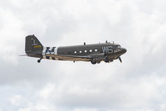道格拉斯C-47B在显示的Skytrain DC-3 库存照片
