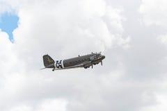 道格拉斯C-47B在显示的Skytrain DC-3 图库摄影