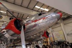 道格拉斯DC-3飞机告诉了Flagship橘郡 库存照片