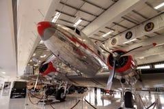 道格拉斯DC-3飞机告诉了Flagship橘郡 免版税库存照片