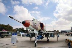 道格拉斯Skyhawk A-4H -单个席位载体可胜任的攻击aircra 库存图片