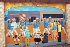 道森克里克,不列颠哥伦比亚省,加拿大街艺术 免版税库存照片