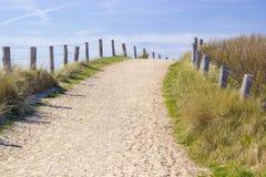 道路低谷沙丘, Zoutelande 免版税库存图片