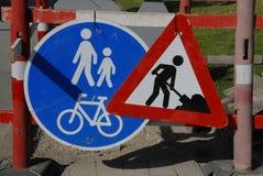 道路工程标志 免版税库存照片