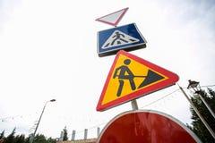 道路工程标志 免版税库存图片