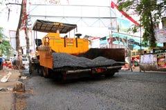 道路工程,印度 免版税库存照片