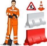 道路施工人员 免版税库存照片