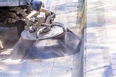 道路清扫工机器 免版税库存照片