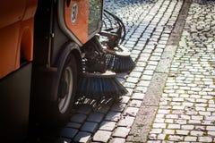 道路清扫工清洁 图库摄影