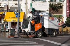 道路清扫工 免版税库存照片