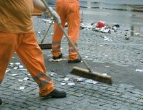 道路清扫工 图库摄影