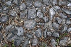 道路的顶视图从石渣的 免版税库存图片